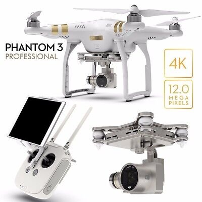 DJI Phantom 3 Professional Drone With 4k Camera, 3-axis Gimbal, and accessories!