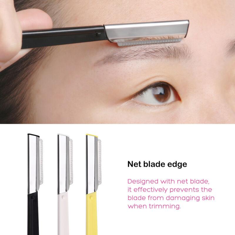 6pcs Facial Eyebrow Razor Trimmer Shaper Shaver Blade Knife Hair