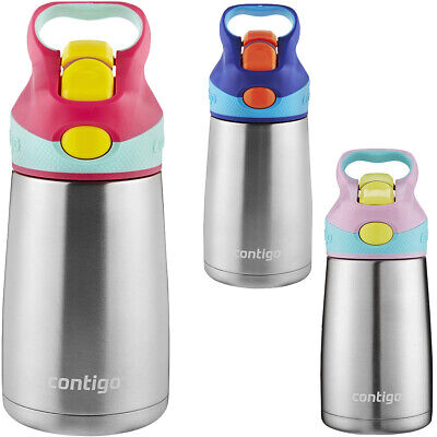 10 Oz Kids Water Bottle - Contigo 10 oz. Kid's Striker Autospout Chill Stainless Steel Water Bottle