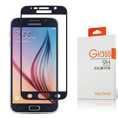 Nacodex [Stacked Coverage] Tempered Glass Screen Protector For Samsung Galaxy S6
