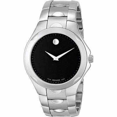 Movado Men's Watch Luno Sport Quartz Black Dial Stainless Steel Bracelet 0606378
