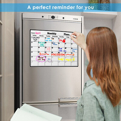 Magnetic Dry Erase Calendar Blank Board For Refrigerator With Marker And Eraser