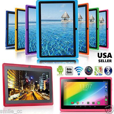 "7"" Google Android 4.4 KitKat Quad Core Tablet PC 8GB Dual Camera Wifi Bluetooth"