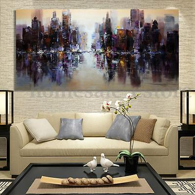 Abstract Modern City Canvas Painting Print Picture Home Wall Art Decor UnFrame