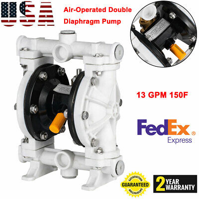 Air-operated Double Diaphragm Pump 12 Inlet Outlet Petroleum Fluids 13 Gpm