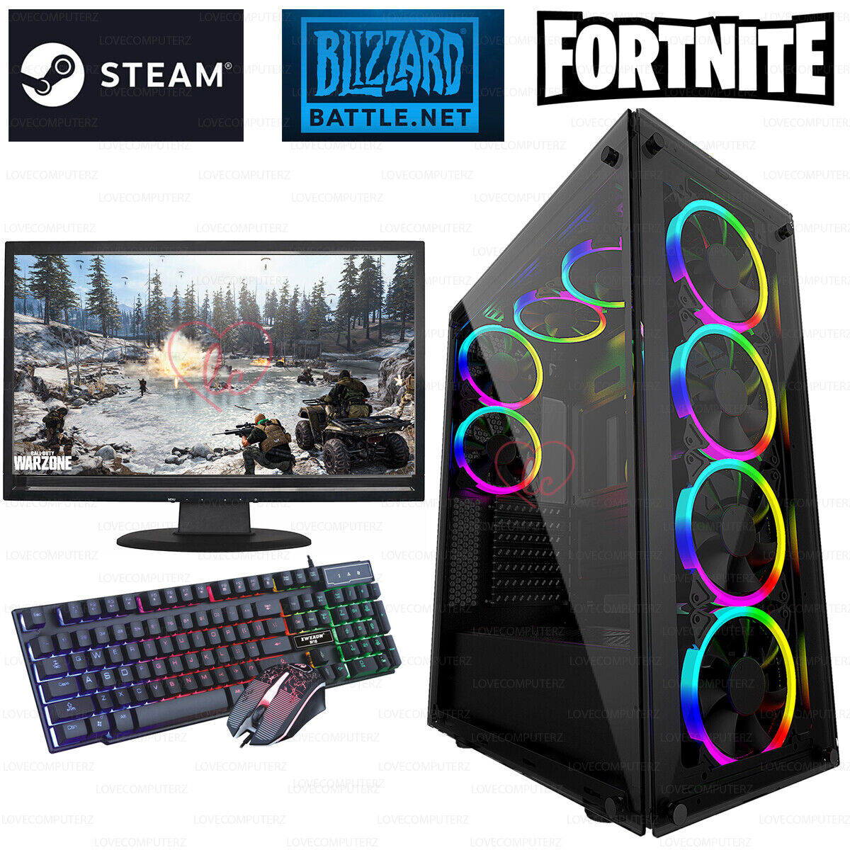 Computer Games - FAST Intel Core i5 Gaming PC Computer 16GB RAM 1TB HDD Windows 10 GT 710 2GB