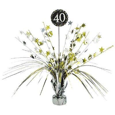 40th Centerpiece Milestone Sparkling Celebration Birthday Table Decorations - 40th Birthday Table Centerpieces