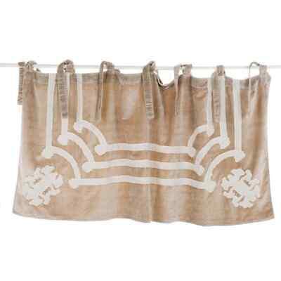 Scheibengardine Gardine Vorhang Querbehang Velvet Samt 65 x 140 Blanc Mariclo