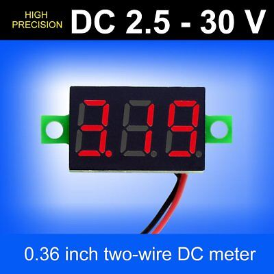 New Mini Digital Voltmeter 2.5-30v Led Car Auto Voltage Volt Panel Meter 2 Wire