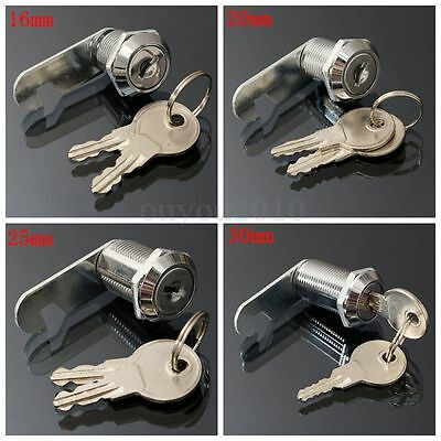 16202530mm Cam Lock Door Cabinet Mailbox Desk Drawer Cupboard Locker 2