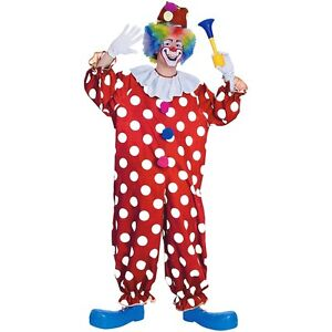 Dotted Clown Costume Adult Halloween Fancy Dress