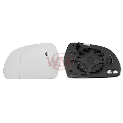 For Audi A5 09-16 Right Driver Aspheric Electric wing mirror glass with plate