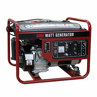 4000W Gasoline Generator 4 Stroke 208cc Air Cooled Gas Powered Portable EPA