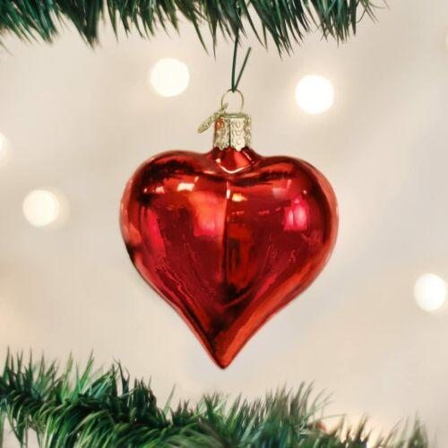 OLD WORLD CHRISTMAS Large Shiny Heart Ornament 30012 NWT