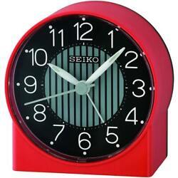Seiko Alarm Tabletop Clock Asami Quartz Red QHE136RLH