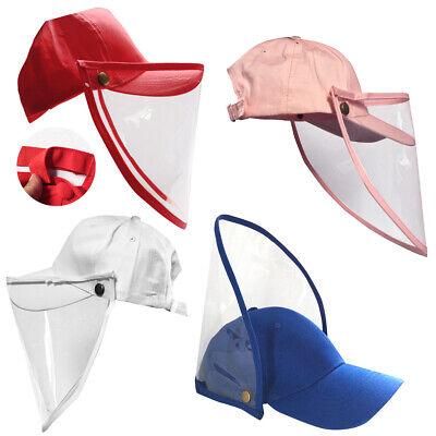 Baseball Cap Protective Hat  Full Face Mask Shield