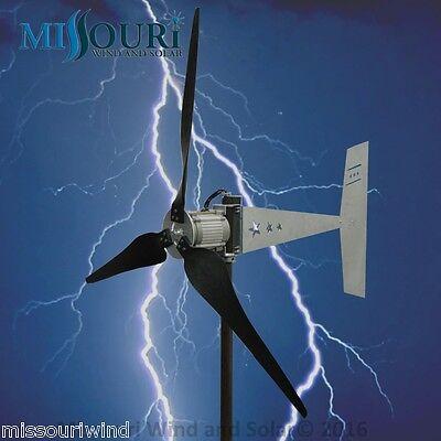 "Raptor G5™ 3 blade 48/96 volt 2000 watt max wind turbine generator 38"" blades"