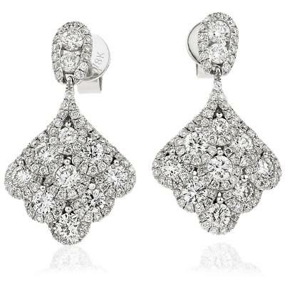 2.00ct Diamond Drop Earrings in 18ct White Gold for Pierced Ears