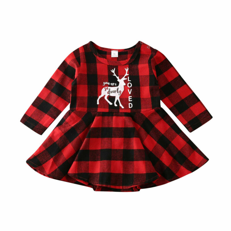 US Cute Newborn Kid Baby Girl Clothes Long Sleeve Romper Dress Cotton Outfits