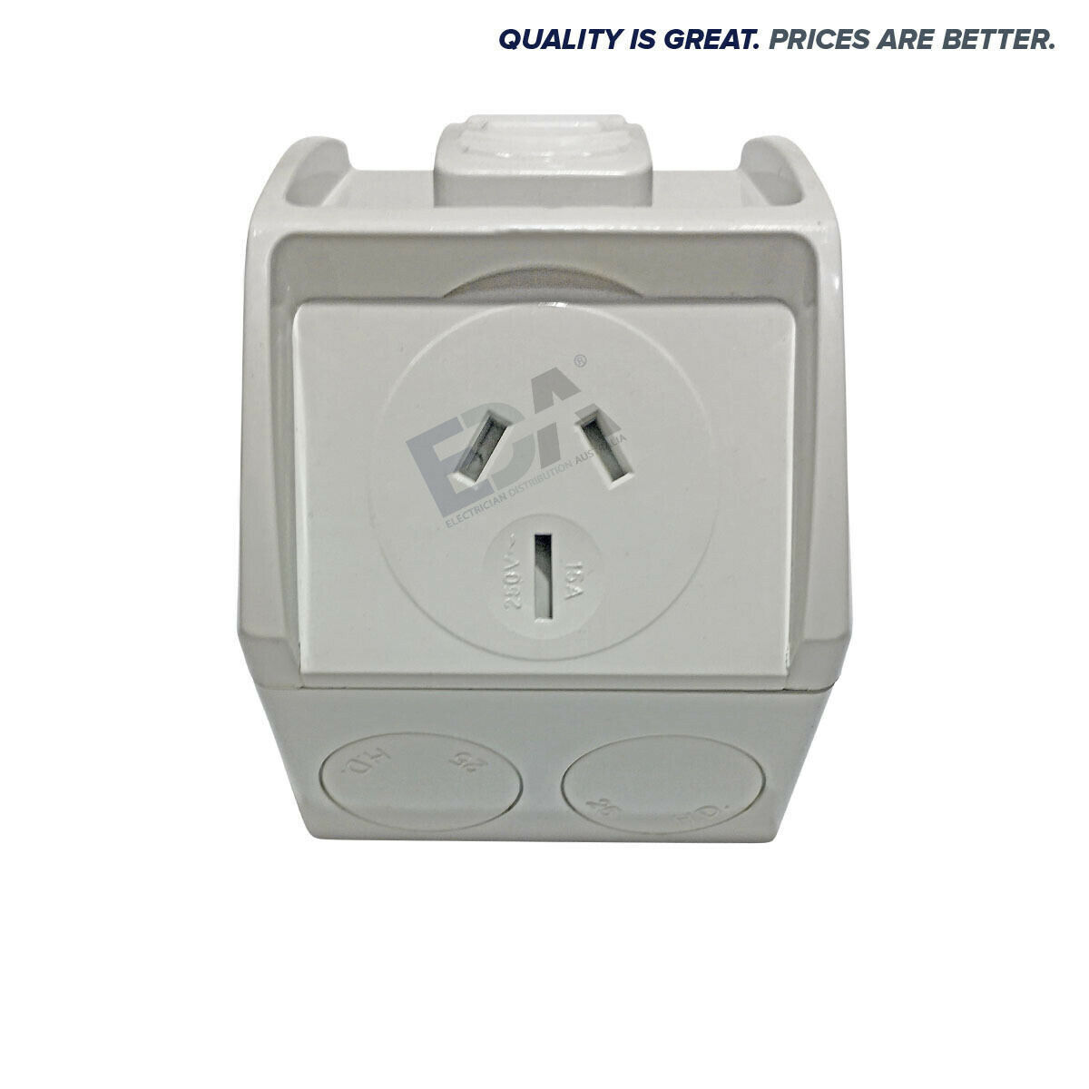 15a Mini Weatherproof Waterproof Single Gpo Power Point 15