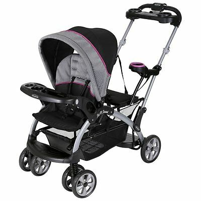 Baby Trend Sit And Stand Stroller Infant + Toddler Double Travel System
