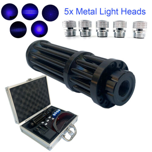 450nm Visible Beam High Power Laser Pointer Blue Light With 4pcs Batteries Box - $71.09