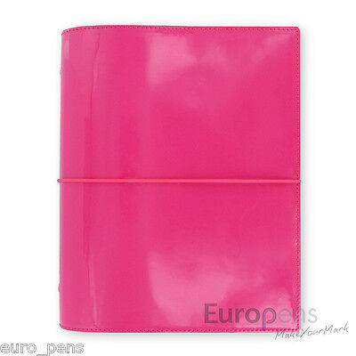 Filofax A5 Sized Domino Patent Hot Pink Organiser 022482