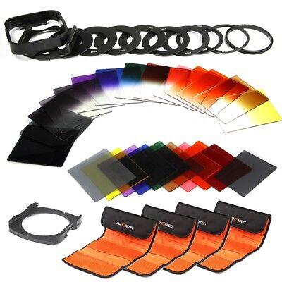 40 Stück Quadratisch Filterset Farbfilter Verlaufsfilter ND Filter Filteradapter