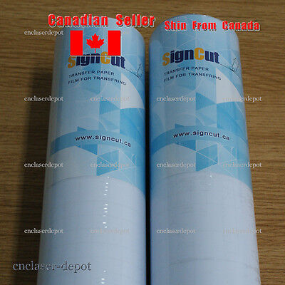 18 Rolls 24 Clear Transfer Tape Film For Plotter Vinyl Graphics Application 10m