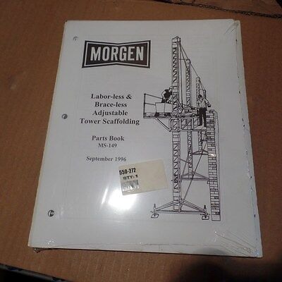 Morgen Labor-less Brace-less Tower Scaffolding Parts Book Ms-149 Ms149 550-272
