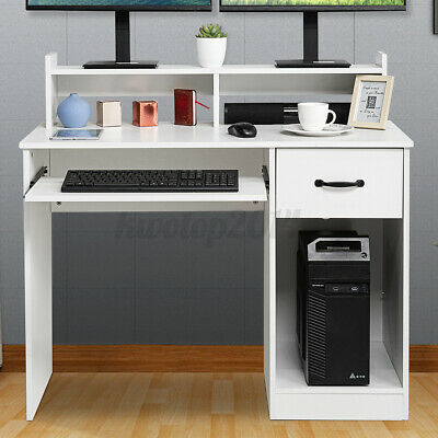 Office Gaming Computer Desk With Drawer Keyboard Tray Laptop Table Workstation