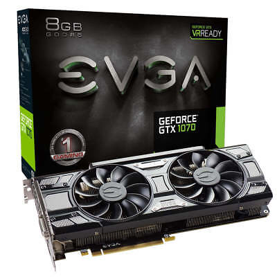 EVGA GeForce GTX 1070 GAMING, 08G-P4-5171-KR, 8GB GDDR5, ACX 3.0 Black Edition