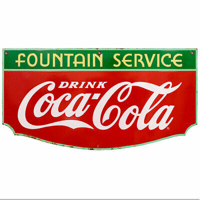 Drink Coca-cola Fountain Service Wall Decal 24 X 13 1930s Style Coke Kitchen