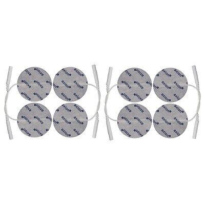8 x runde Elektroden Pads 5cm für TENS EMS Gerät mit 2mm-Stecker Reizstromgeräte