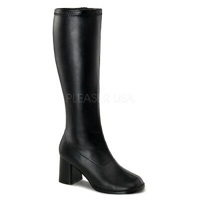 Wide Calf Go Go Boots (Sexy WIDE CALF Retro Black Matte 3