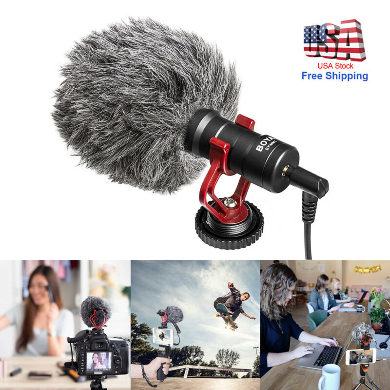 Shotgun Recording Camera Video Microphone for DSLR Camcorder for iPhone Android