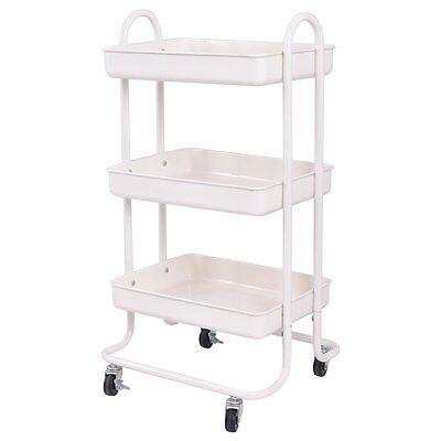 Dental Ivory 3-tier Steel Cart