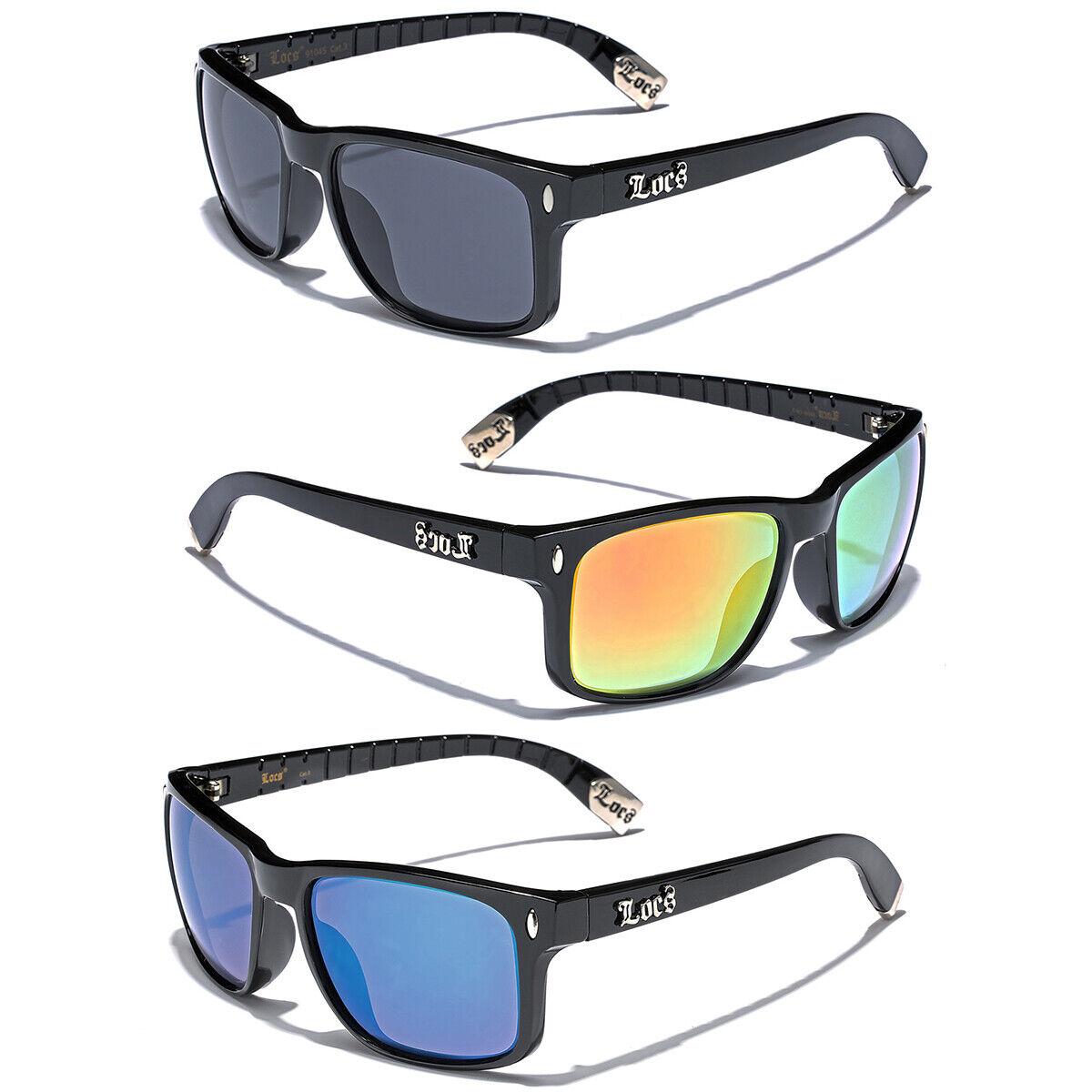 Black Locs Square Men Mirrored Dark Sunglasses Cholo Gangste