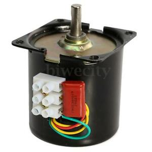 1PC AC 220V 10RPM High Torque A60KTYZ Gear-Box Electric Synchronous Motor New