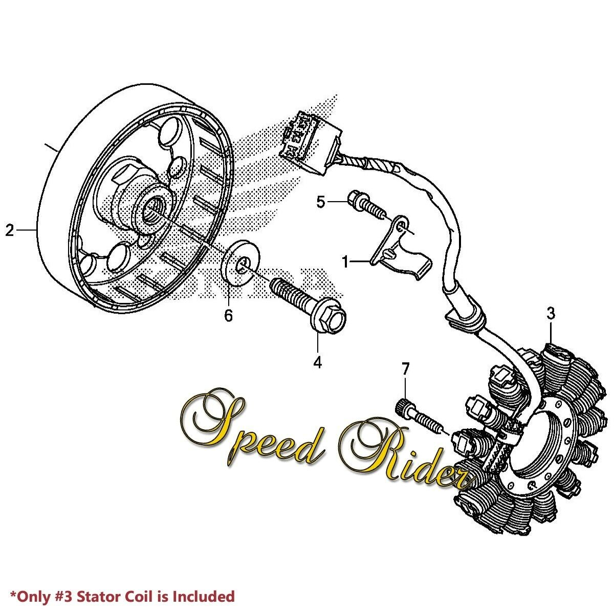 2003 2006 Honda Cbr600rr Cbr 600 Lead Wire Magneto Coil Generator Oe On Plug Wiring Diagram Stator Assy