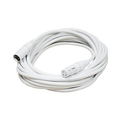 Audio2000's E80125 25 Ft XLR Male to XLR Female White Microphone Cable (Audio 2000 Cable)