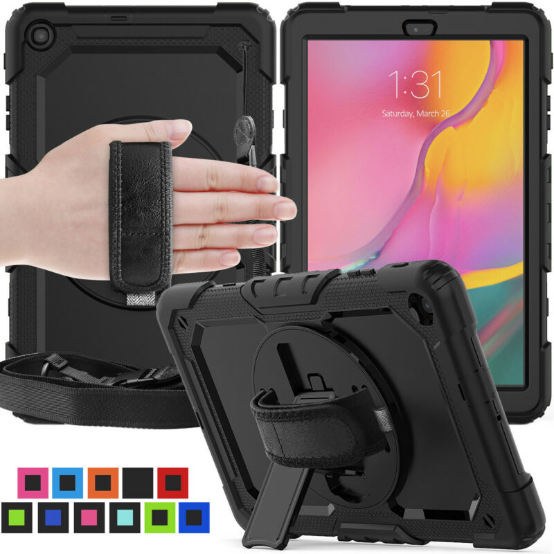 For Samsung Galaxy Tab A 10.1 SM-T510 Heavy Duty Tablet Case with Rotating Stand