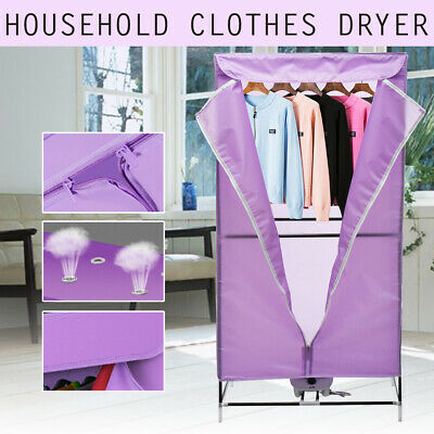 Portable Electric Hot Air Clothes Dryer Fast Drying Wardrobe Machine Home 1000W for sale  Shipping to Nigeria