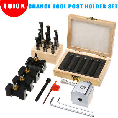 Mini Quick Change Tool Post Holder Set 38 Boring Bar 5x Indexable 38