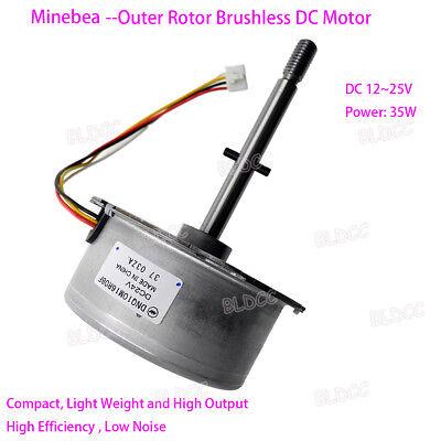 Dc 12v 24v High-efficiency Outer Rotor Pwm Brushless Motor Dual Ball Bearing Fy