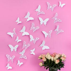 Wandkings12 Schmetterlinge in 3D - Wanddekoration Wandtattoos Wandsticker Weiß