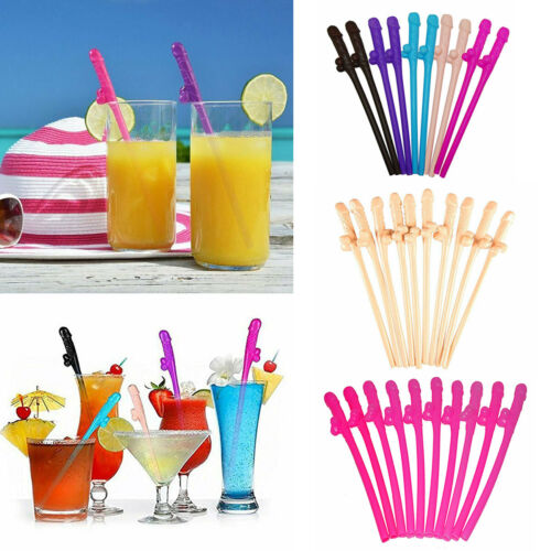 20 Pcs Dicky Sipping Adult Straws Bachelorette Party Funny Gag Gift Favors