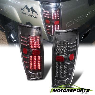 2002 2003 2004 2005 2006 Chevrolet Avalanche Pickup Black LED Brake Tail Lights