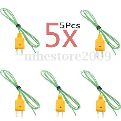 5x K-type Thermocouple Wire For Digital Thermometer Temperature Sensor Probe Tc1