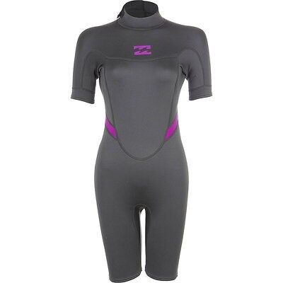 BILLABONG Women's 2mm SYNERGY BZ S/S Spring Suit - OFB - Size 10 - NWT